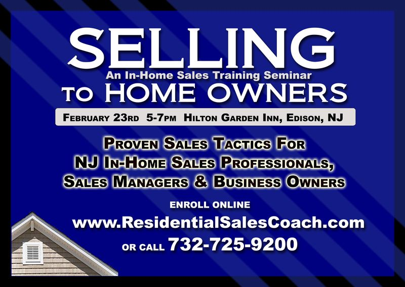 Selling to Home Owners Residential Sales Training